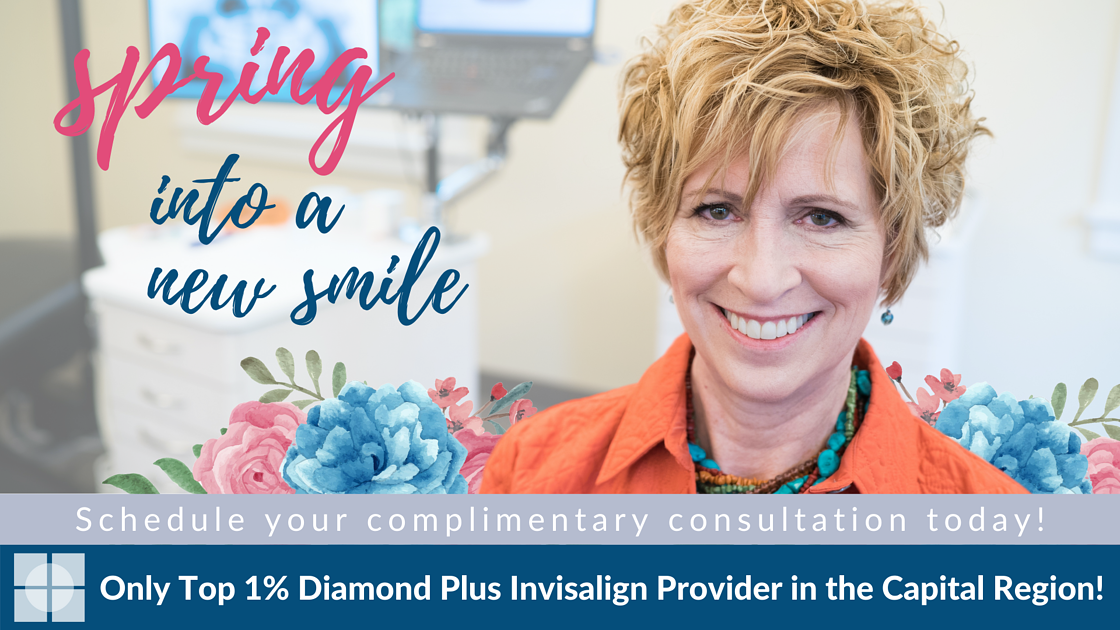 Spring into a new smile by scheduling your complimentary consultation with the only top 1% Diamond Plus Invisalign Provider in the Capital Region! (4)
